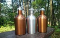 Wholesale 1l Bottles - 2017 New style stainless steel water bottle 1L and 2L swinging big beer bottle strange pressure seal beer barrel