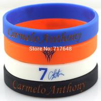 Wholesale Anthony Bangle - Wholesale- Carmelo Anthony wristband silicone bracelets rubber wrist bands cuff bangle free shipping