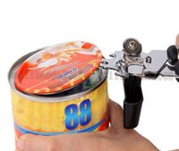 Wholesale can safes - NEW USA Top grade Stainless Steel Can Opener Metal Cap Jar Bottle Safe Openers FDA Cans Jars Caps Open Tool FREE SHIPPING MYY