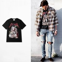 Wholesale Style For Men Tees - Wholesale Rock T Shirt Metallica Tee Black Fear Of God Hip Hop Street Sport Style Short Sleeve For Women Men