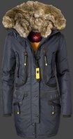 Wholesale Short Down Jacket Hood - 2018 Wholesale Price New Arrival Women's Wellensteyn Seewolf Brown Navy Red Black Winter long fur hood down coat jacket free shipping