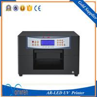 Wholesale Mini Usb Printers - new product mini a4 size automatic uv led printer digital metal plate flatbed printer for AR-LED Mini6