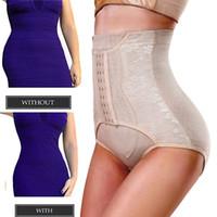 Wholesale Lighting Lifter - Women Waist Cincher Butt Lifter High Waist Trainer Control Panties Body Shaper Tummy Girdle Slimming Underwear Control Briefs