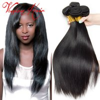 Kinky Straight Hair Weave Bulk 3Pcs / Lot Unprocessed Remy Cheveux Humains Bundles Pour Vente en gros Natural Black Cheap Hair Weaves Extensions Sale