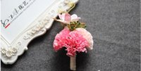 Wholesale Wedding Bouquet Silk Carnations - The bride bridegroom vip carnation bouquets corsage brooches the bride holding flowers the wedding bouquets Wedding props