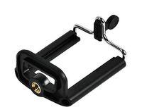 selbststichhalter großhandel-1/4 Schraube Drehständer Clip Mount Halter für Selfie Stick Einbeinstativ Stativ, Universal Handy Halter Ständer für Iphone 6 Kamera