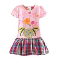 Wholesale Nova Girls Summer Dress - Wholesale- Baby girl dresses brand new cartoon summer cotton child dress girl's wear nova kid clothes children flower dress H5236