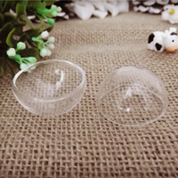 Wholesale Glass Vial Bubble Globe - Fashion Jewelry Pendants 20pieces 30mm half glass globe dome bubble glass bottle vial pendant handmade jewelry findings