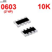 Wholesale Array Networks - Wholesale- 100pcs Lot 5% 0603 ARRAY 10K OHMS 8P Chip Resistor Networks Arrays Array Resistor YXSMDZ3490