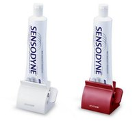 Wholesale toothbrush holder toothpaste dispenser - Bathroom Set Accessories Rolling Tube Tooth Paste Squeezer Toothpaste Dispenser + Tooth Brush Toothbrush Holder