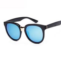 gafas de sol de forma redonda al por mayor al por mayor-Venta al por mayor- 2016 hombres retro forma redonda gafas de sol polarizadas gafas mujeres gafas de sol