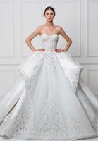 Wholesale Wedding Dresses Open Feather Train - bustier princess blue wedding dresses 2017 maison yeya bridal sweetheart neckline heavily embellished bodice open low back royal train