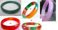 Wholesale Jade Bangles 56mm - GENUINE Asia Different Colour Jade Bangle Bracelet Inside diameter:56mm-66mm