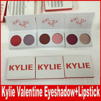 Wholesale Wholesale Things For Babies - Kylie 2 Colors Eyeshadow with lipstick lip kit main squeeze and sweet thing,poison and in love,love letter and baby For valentine Gift