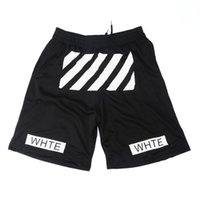 Wholesale Sweat Hba - Wholesale-Men summer hip hop off white shorts breathable casual shorts men's black hba sweat short pants boardshorts bermuda