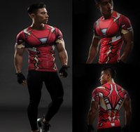 Wholesale Iron T - Free shipping wholesale 2017 sports fan new sports marvel marvel avengers superhero iron man T-shirt 3D printed T-shirt men's short-sleeved