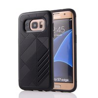 Wholesale Phone Case Hybrid Galaxy S4 - Rugged Hybrid Armor Cases for Samsung Galaxy S7 edge S6 edge S8 Plus S5 S4 Note 5 4 3 C5 C7 Shockproof Mobile Phone Case Bags Shell Cover