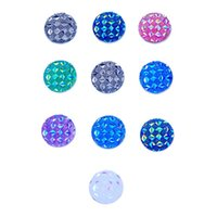 Wholesale Colored Resin Bracelets Wholesale - 18MM Ginger snap button Resin Jewelry Findings Various Bright colored scale Snap Button fit DIY Noosa Bracelet Necklace Ring Earrings
