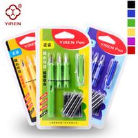 Wholesale Calligraphy Pen Writing - U Pick ! 8Pcs blue ink Yiren 359 fountain pen ( 3 Sets Pen Nib ) office student writing calligraphy school supplies