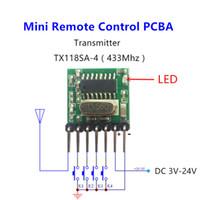 mini rf sender großhandel-Großhandel-433 Mhz Mini Wireless RF Fernbedienung 1527 EV1527 Lerncode 433 Mhz Sender für Tor Garagentor Alarm Licht Controller