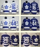 Wholesale New Jersey Drop Ship - 2016 NEW Toronto Maple Leafs 16 Mitchell Marner 44 Morgan Rielly 29 William Nylander White Blue Ice Hockey Jersey Drop Shipping Wholesale