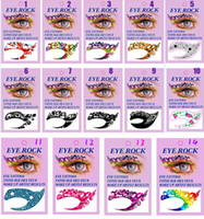 Wholesale Shadow Stickers - 14 designs Eye Shadow Temporary Tattoos Sticker Painted Eyes Makeup Artistic Mask Club Party Cosmetics Face ornaments with retail box
