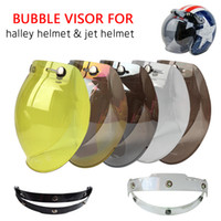 Wholesale Open Helmet Jet - Hot Sales Bubble Motorcycle Helmet Visor Jet Retro Hallar Casco Mask Vintage Helmet Bubble Visor Lens Helmet Accessories BV01