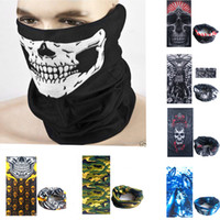 Wholesale Neck Warmer Scarf Sport - Multifunction bandana outdoor sports ski motorbike cycling face mask scarf windproof neck warmer hood skull face masks