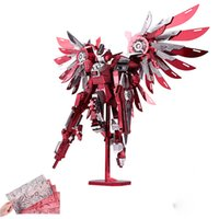 Wholesale 2017 Newest D Metal Puzzles Of Thundering Wings Stars Difficulty D Metal Model Kits DIY Funny Gifts for Kids Toys Pink Enchanter