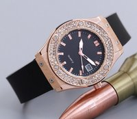 Wholesale Silicone Band Rhinestone Crystal - Brand Steel Luxury Women Watches Crystal Rhinestone Watches Diamond Women Dress Watches Ladies Diamonds Silicone Band