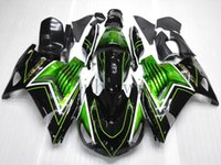 Wholesale ABS Plastic Bodywork set For Kawasaki ZX R ZX R green black Aftermarket Fairing