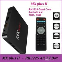 Wholesale Kd Ii - MX PLUS II 4K OTT Android tv box H.265 KD Rockchip RK3229 Quad Core 1GB 8GB Better Than MXQ Pro BT 1p