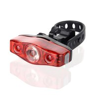 Wholesale Angle Led Flashlight - Waterproof Red Bike Rear Lights 360 View Angle LEDTail Lights For Cycling Safety Flashlight Fits on all bikes