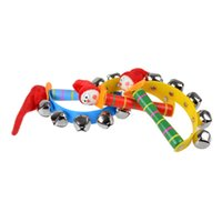 Wholesale musical toddler toys online - Cute Baby Toys Kids Sound Music Gift Toddler Rattle Musical Wooden Toys Random Color