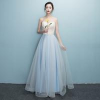 Wholesale Double Shoulder Dress - Robe Double Shoulder Simple Solid Color Pleat Chiffon Long Evening Dresses Mother Of The Bride Dress E3237