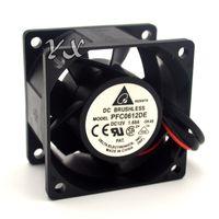 Wholesale Dual Fans - original New PFC0612DE 12V 1.68A 6038 6CM high speed cooling fan server for DELTA 60*60*38mm