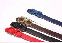 Wholesale genuine belts - Big large buckle genuine leather belt with box designer belts men women high quality new mens belts luxury brand belt