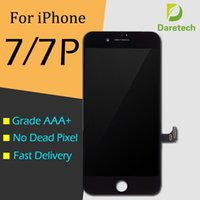 Wholesale Screen Replacements For Phones - For Phone 7 & iPhone 7 plus White black Grade A +++ LCD Display Touch Digitizer Complete Screen with Frame Full Assembly Replacement