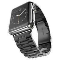 браслет из нержавеющей стали оптовых-роскошный ремешок из нержавеющей стали классическая пряжка адаптер ссылка браслет ремешок 42 мм 38 мм для Apple Watch iwatch серии 4 3 1/2