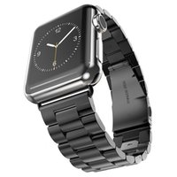 Wholesale iwatch adapter resale online - luxury Stainless Steel Strap Classic Buckle Adapter Link Bracelet Watch Band mm mm for Apple Watch iwatch series