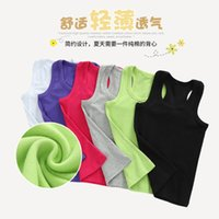 Wholesale Sleeveless T Shirts For Babies - Summer Unisex T-shirt for Solid colour Girls&boys round neck Kids T Shirt Girls Sleeveless Baby Girl T-shirt Children Clothing