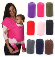 Wholesale Front Backpack - Breastfeed Gear Sling Baby Stretchy Wrap Carrier Infant Baby Stretchy Strollers Gallus Kids Breastfeeding Sling Hipseat Backpacks J481