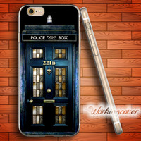 Wholesale Iphone 4s Doctor Covers - Fundas Tardis Doctor Who Soft Clear TPU Case for iPhone 7 6 6S Plus 5S SE 5 5C 4S 4 Case Silicone Cover.