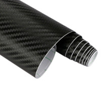 Carbon Fiber Vinyl Film black carbon paper sheets - 127cmx15cm D M Auto Carbon Fiber Vinyl Film Carbon Car Wrap Sheet Roll Film Paper Motorcycle Car Stickers Decal Car Styling