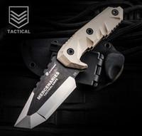 Wholesale field knives - HX OUTDOORS Mercenaries D2 steel high hardness tactical straight knife, field survival knife, outdoor knife, collection knife 1piece