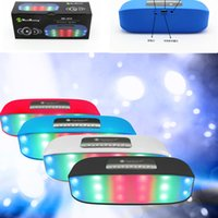 Mini Wireless Wireless Bluetooth Impulso Supporto Radio Scheda SIM TF Hands-Free con 7 LED colorati luci Hifi portatile Night Flashing Music-Box