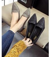 ein flacher bodenschuh großhandel-Us Größe: 5-8 Frauen einzelne Schuhe Square Toe Ballerinas weichen Boden Mode Arbeit Schuhe Frau flache Mokassins