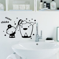 Lovely Wall Decal Sticker Home Decor FAI DA TE Smontabile Del Vinile di Arte Murale Per Specchio / Armadio / Bagno / Piastrelle / Vetro QTM17 Cartoon
