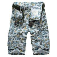 bermuda jeans masculina achat en gros de-Moletom Skinny Masculina Hilip Hip Hop mode style cargo décontracté plage été hommes pantalons shorts jeans bermuda
