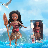 Wholesale Realistic Girl Model - Moana Girl Doll Ocean Big Adventure Salon Dolls Plastic Material Lifelike Realistic Skin Color Bight Facial Expression 24CM 11hy I1